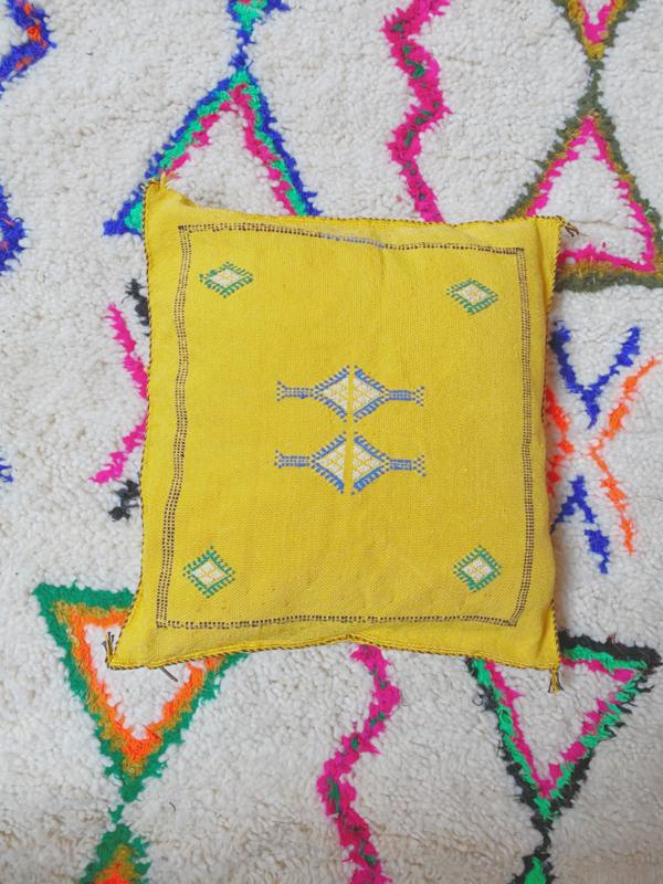 Sabra Cushion Yellow 45x45