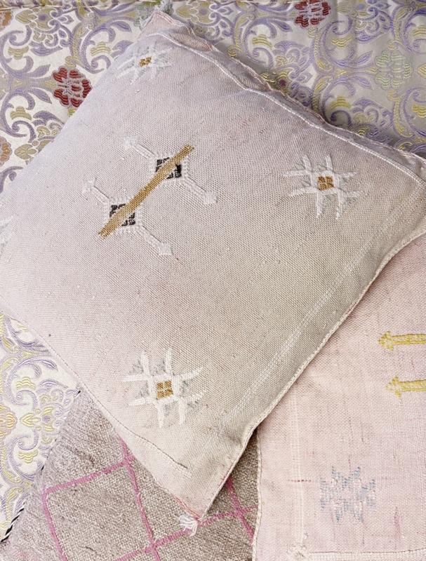 Sabra Cushion Soft Pink 45x45