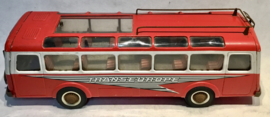Transeurope Special vintage red tin toy bus Joustra France 1960's