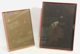 foto kaders, rood plastic , w germany, picture frame