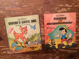 Disney , , pop up boekjes 1976 bambi pinokkio