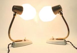 Unique pair of Vintage table desk lamp night lamp - 1950's