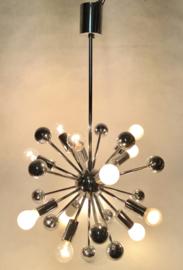 Vintage chrome Sputnik atomic ceiling light Design by Paul De Haan for Jolina