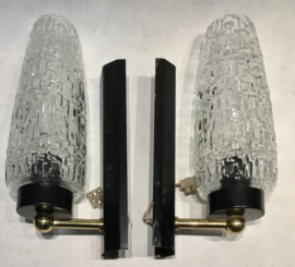 pair (2) of vintage Modernist mid century design Wall Light scones