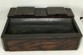 art deco , houten pennen , - inktpotouder, bureauset