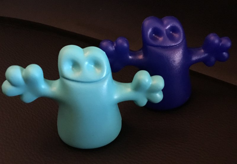 Alessi bottle stopper, 2X  Carlo little ghost