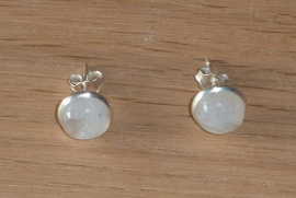 Maansteen oorbellen met zilver
