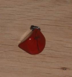 Jaspis hanger rood