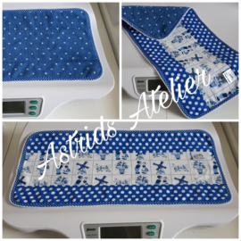 Weegschaal-dekje Delftsblauw stip