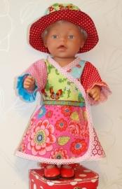 *UITVERKOCHT!* Pip-stijl mix jurk A. met hoedje