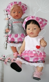 *UITVERKOCHT* AANBIEDING Chinese set roze/ lichtgrijs