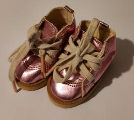 Laarsjes metallic roze