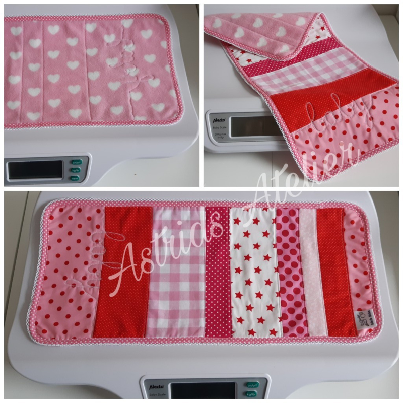 Weegschaal-dekje roze Baby