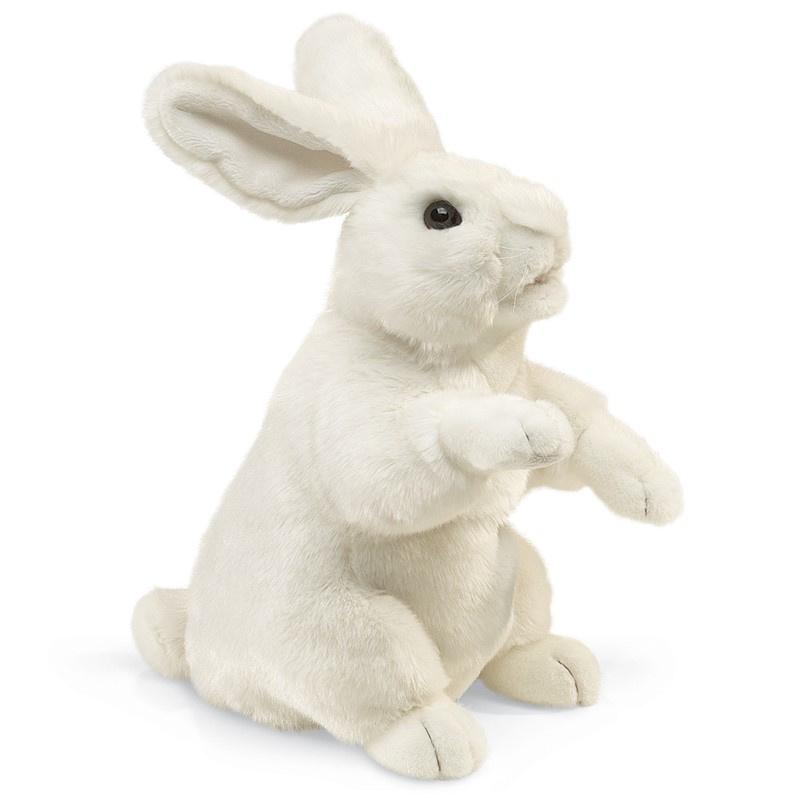 2868 Staand konijn wit