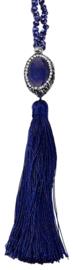 Edelstenen ketting Bright Lapis Lazuli Tassel