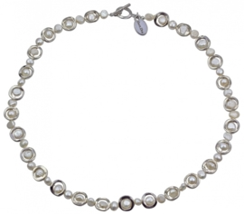 Zoetwater parelketting Pearl Geometric