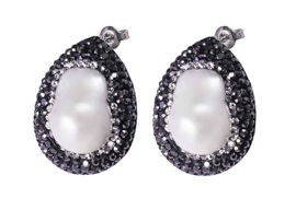 Zoetwater parel oorbellen Bright Pearl Big Teardrop