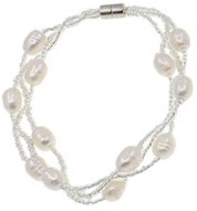 Zoetwater parel armband Twine Pearl White 2