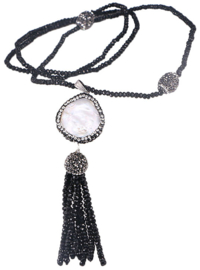 Zoetwater parelketting Bright Coin Pearl
