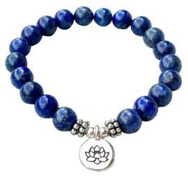 Edelstenen armband Lapis Lazuli Lotus