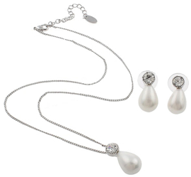 Mother of Pearl parel set Bling Shiny White