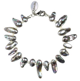 Zoetwater parel armband Pearl Blister AB Grey