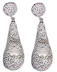 Zoetwater parel oorbellen Bright Pearl Long Drop Silver