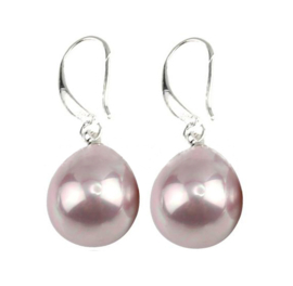 Mother of pearl parel oorbellen Royal Pink