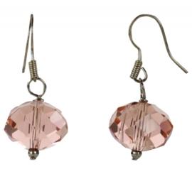 Kristallen oorbel Pink Crystel