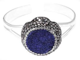Kristallen armband Bangle Blue Druzy