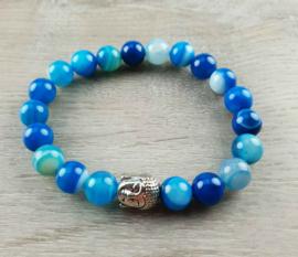 Edelstenen armband Buddha Blue Lace Agate