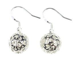 Verzilverde oorbellen Silver Ball Small