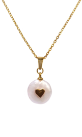 Zoetwater parelketting Golden Love Pearl