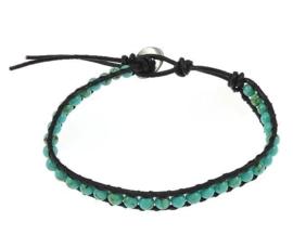 Edelstenen armband Wrap Turquoise Green