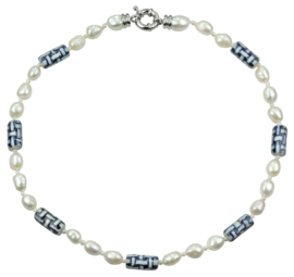 Zoetwater parelketting Hollands Glorie Twine White