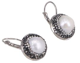 Zoetwater parel oorbellen Bright Dangling Pearl