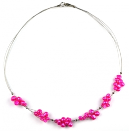 Zoetwater parelketting Pinky