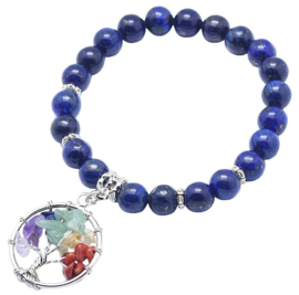 Edelstenen armband Lapis Lazuli Gemstone Tree of Life