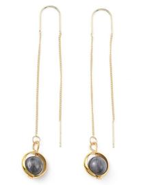 Edelstenen oorbellen Gold Chain Labradorite