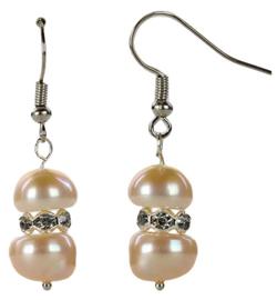 Zoetwater parel oorbellen Bling Pearl Peach
