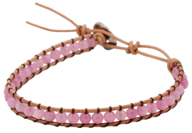 Edelstenen armband Wrap Little Rose Quartz