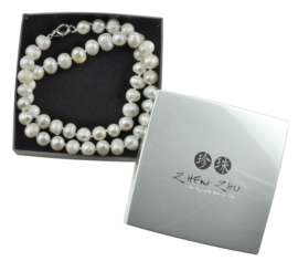 Cadeau set zoetwater parelketting Bella