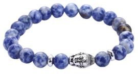 Edelstenen armband Buddha Blue Spot