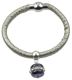 Edelstenen armband Cat's Eye Blue Bling