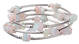 Edelstenen wikkelarmband Wrap Morganite Chip