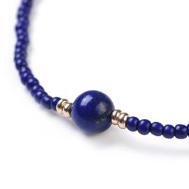 Edelstenen armband Lapis Lazuli Mini