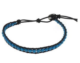 Edelstenen armband Wrap Turquoise Blue