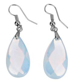 Edelstenen oorbellen Facet Sea Opal