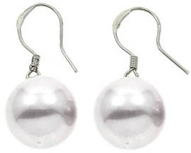 Mother of pearl parel oorbellen Shiny Ball White