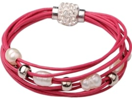 Zoetwater parel armband Bling Pearl Red